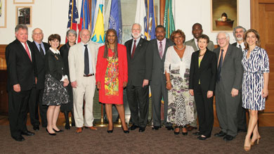 Meeting of Haitian and U.S. cultural leaders in Washington, DC on May 5, 2010